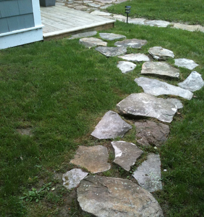 enhance_the_look_of_your_shed_stone_pathway_Cook_Portable_Warehouses