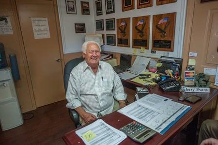 Jerry Evans  + Cook Portable Warehouses Top Dealer