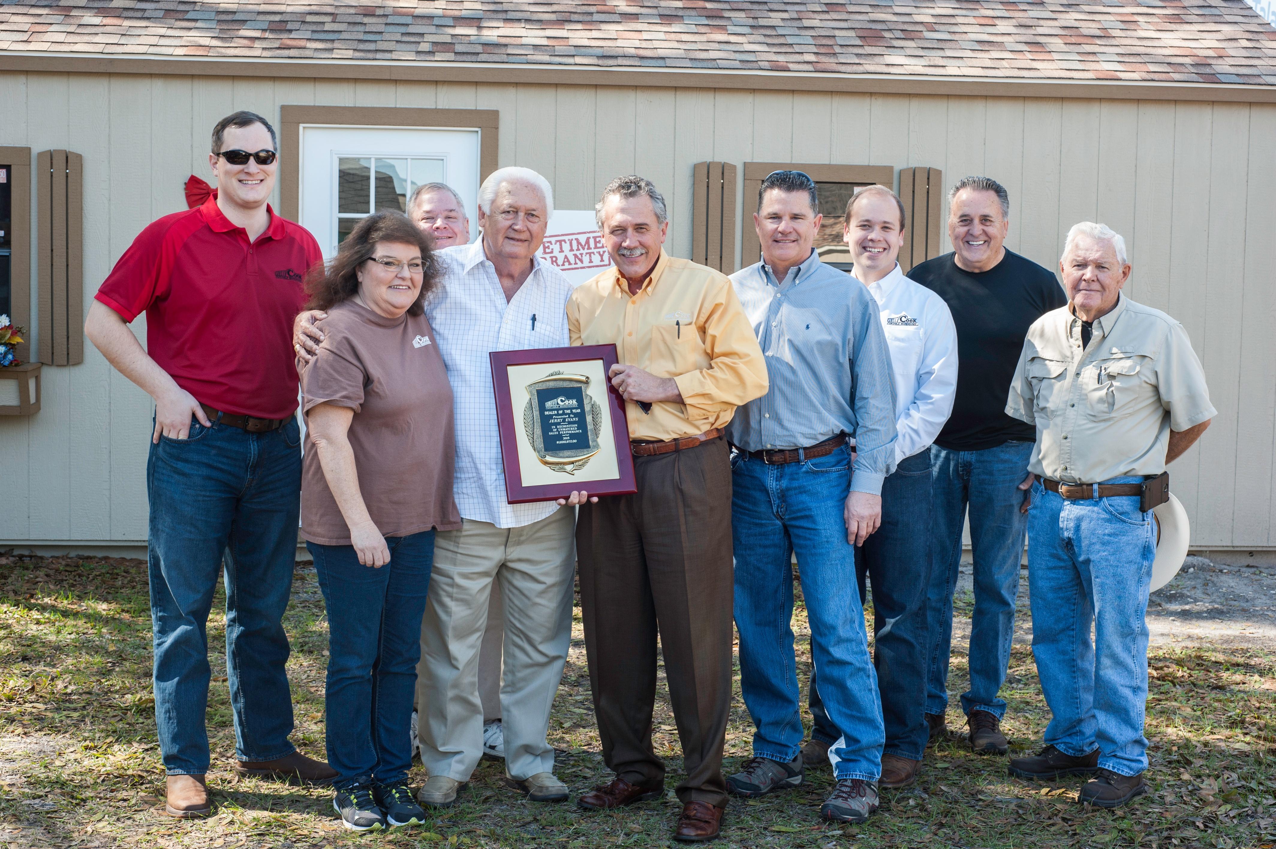 Cook Portable Warehouses Visits Spring Hill FL Dealer