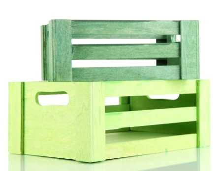 Wooden Crates for Shelving