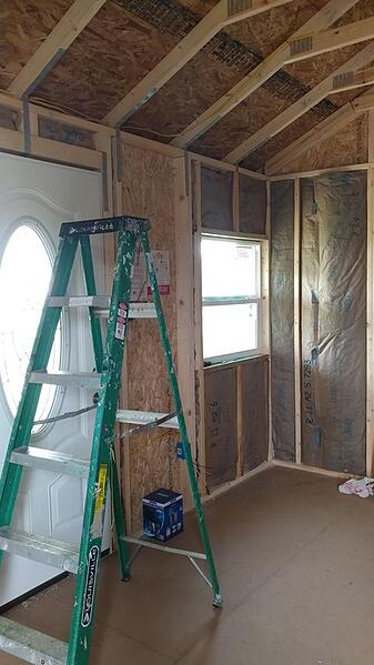 Adding Insulation to the Inside of a Cook Shed