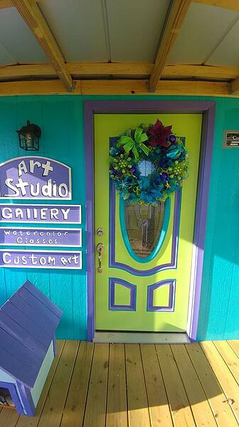 Colorful Art Studio Made From Cook Shed