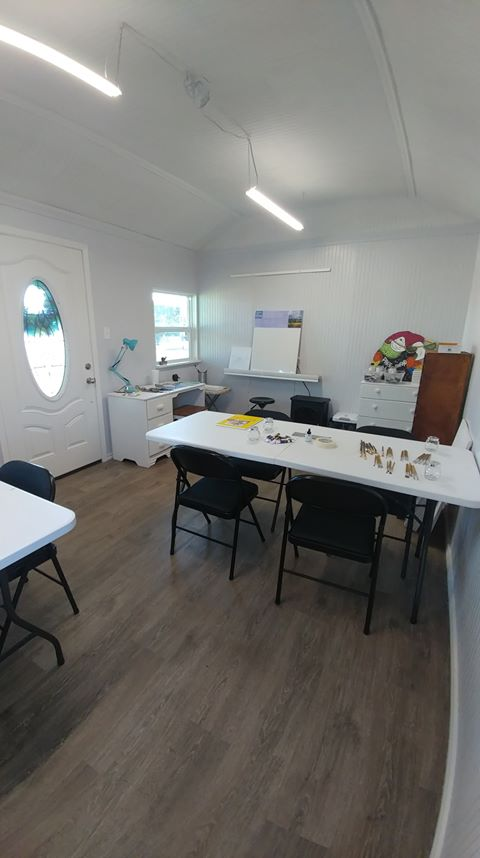 Inside Shirley's Art Studio