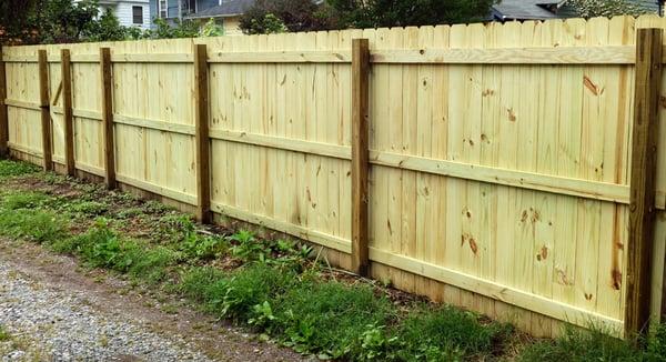 Build a backyard fence