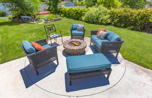 Build an outdoor living room