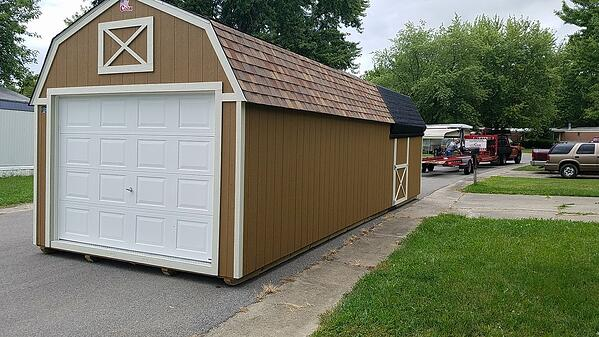 Andrew's Lofted Garage Shed