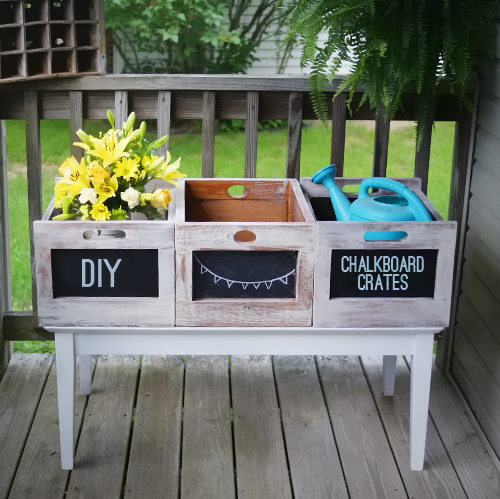 Chalkboard Crate DIY 5 from saved by love creations
