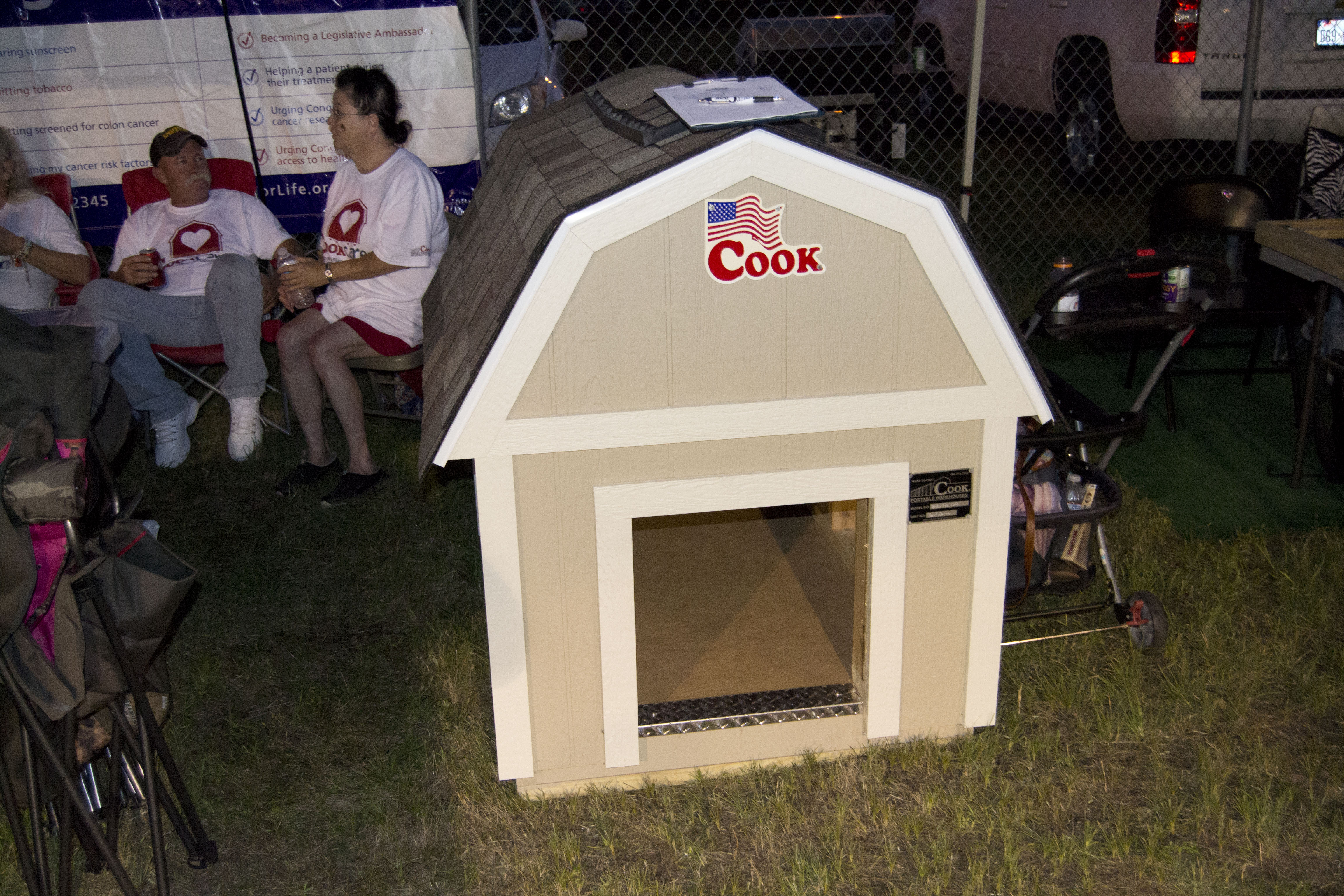 Built & Auctioned Off a Dog House for Relay for Life