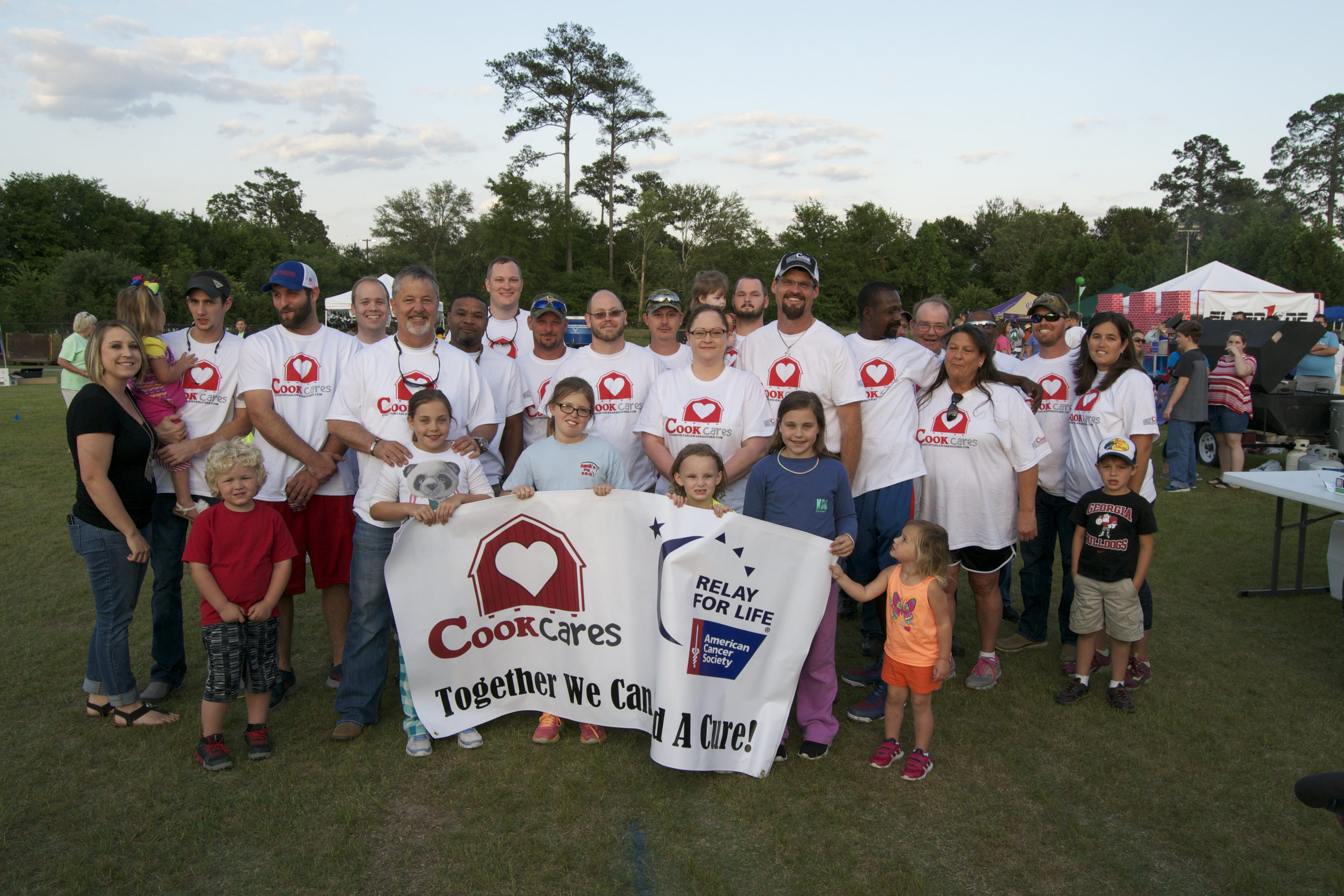 Cook Cares team for Relay for Life in 2016