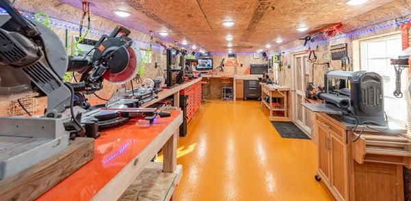 Inside Handyman Shed Workshop
