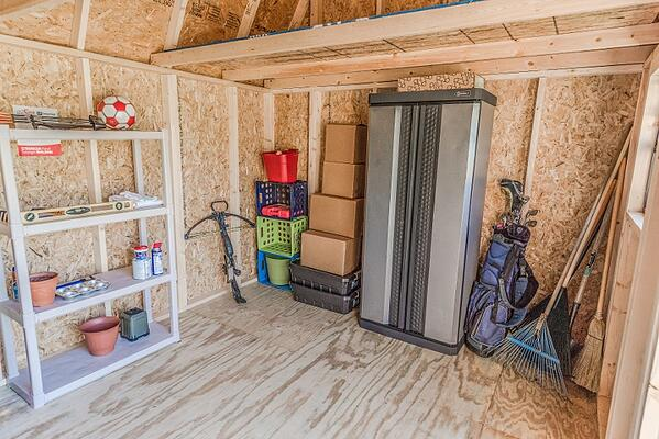 Storage Inside a Shed