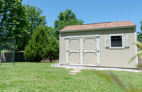 Cook Utility Shed in Yard