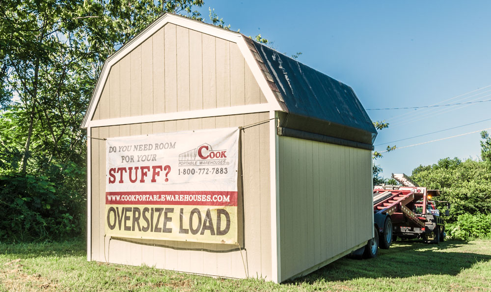 who will deliver the shed + Cook Portable Warehouses