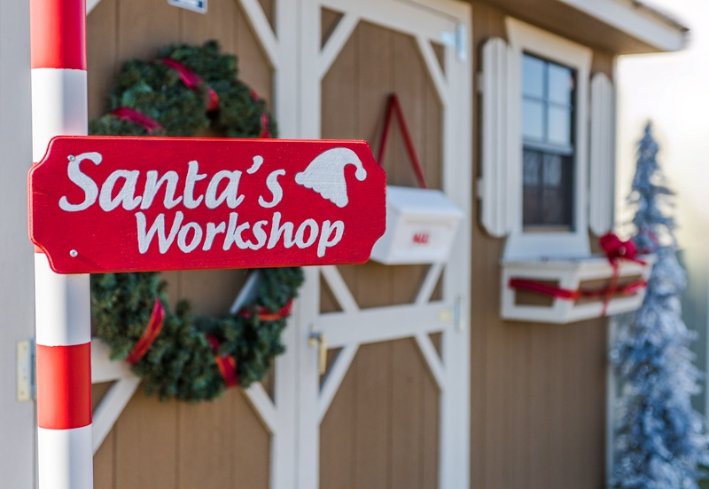 Convert your Cook Shed into Santa's Workshop + Cook Portable Warehouses