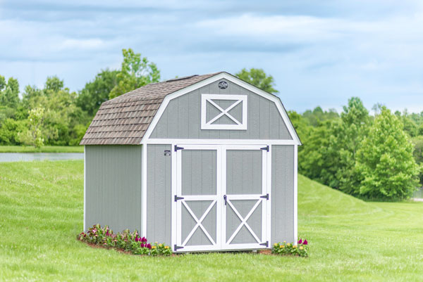 Lofted Barn with landscaping