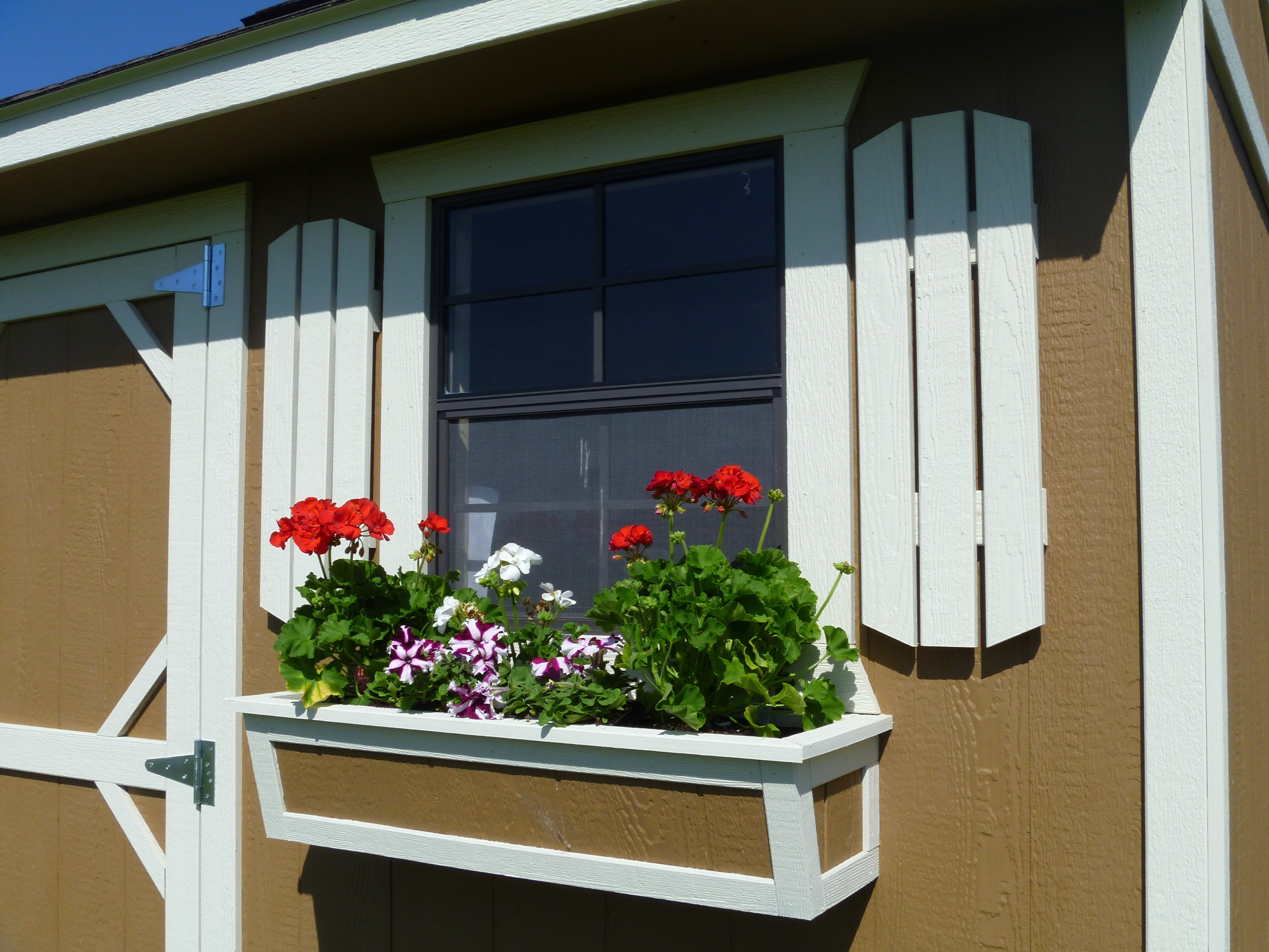 Cook Garden Shed with Flower Box