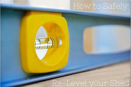 How_to_Safely_Re-Level_your_Shed_Cook_Portable_Warehouses
