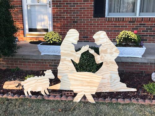 Plywood Nativity Scene + Cook Portable Warehouses