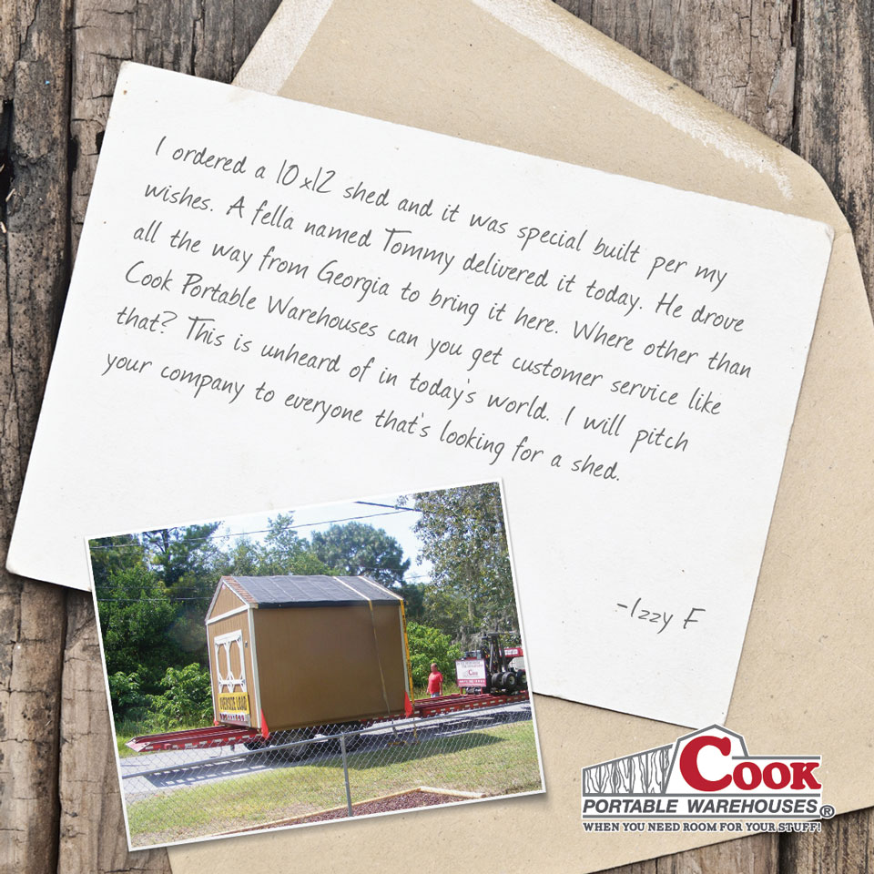 Cook Portable Warehouse Testimonial