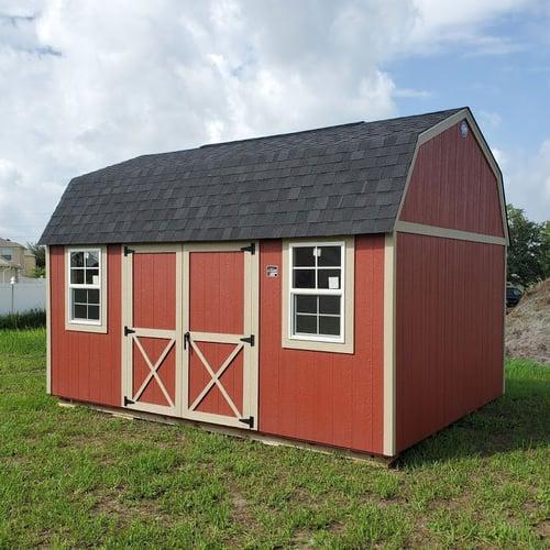 12x16 Red Lofted Barn