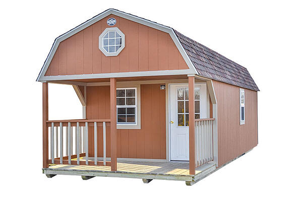 Premium Lofted Cabin Style from Cook Portable Warehouses