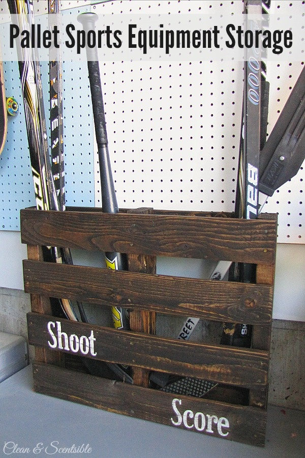 Pallet-Sports-Organizer from clean and scentsible