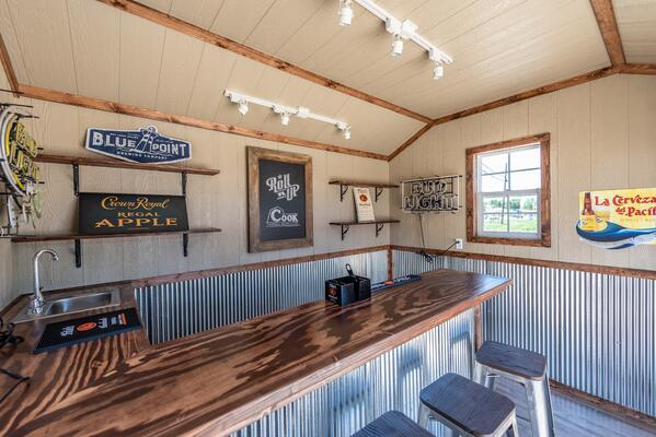 Inside Cook's Bar Shed