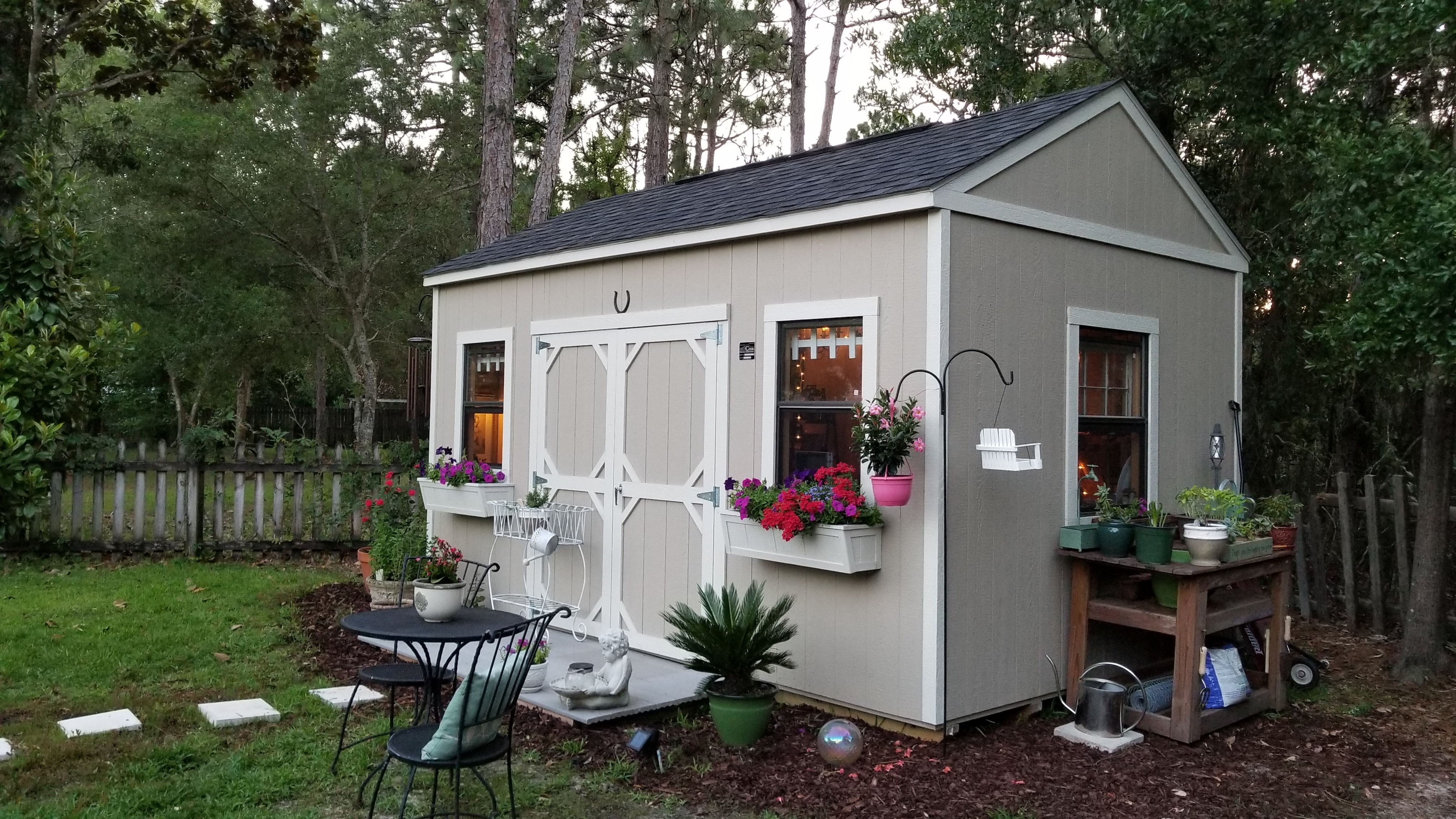 Utility Shed Turned Into a She Shed