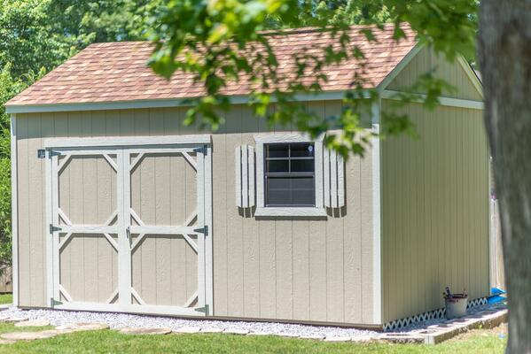 Cook Utility Shed in Backyard
