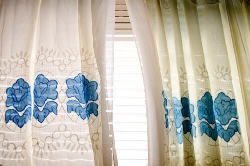 Window Treatments for Decorations + Cook Portable Warehouses
