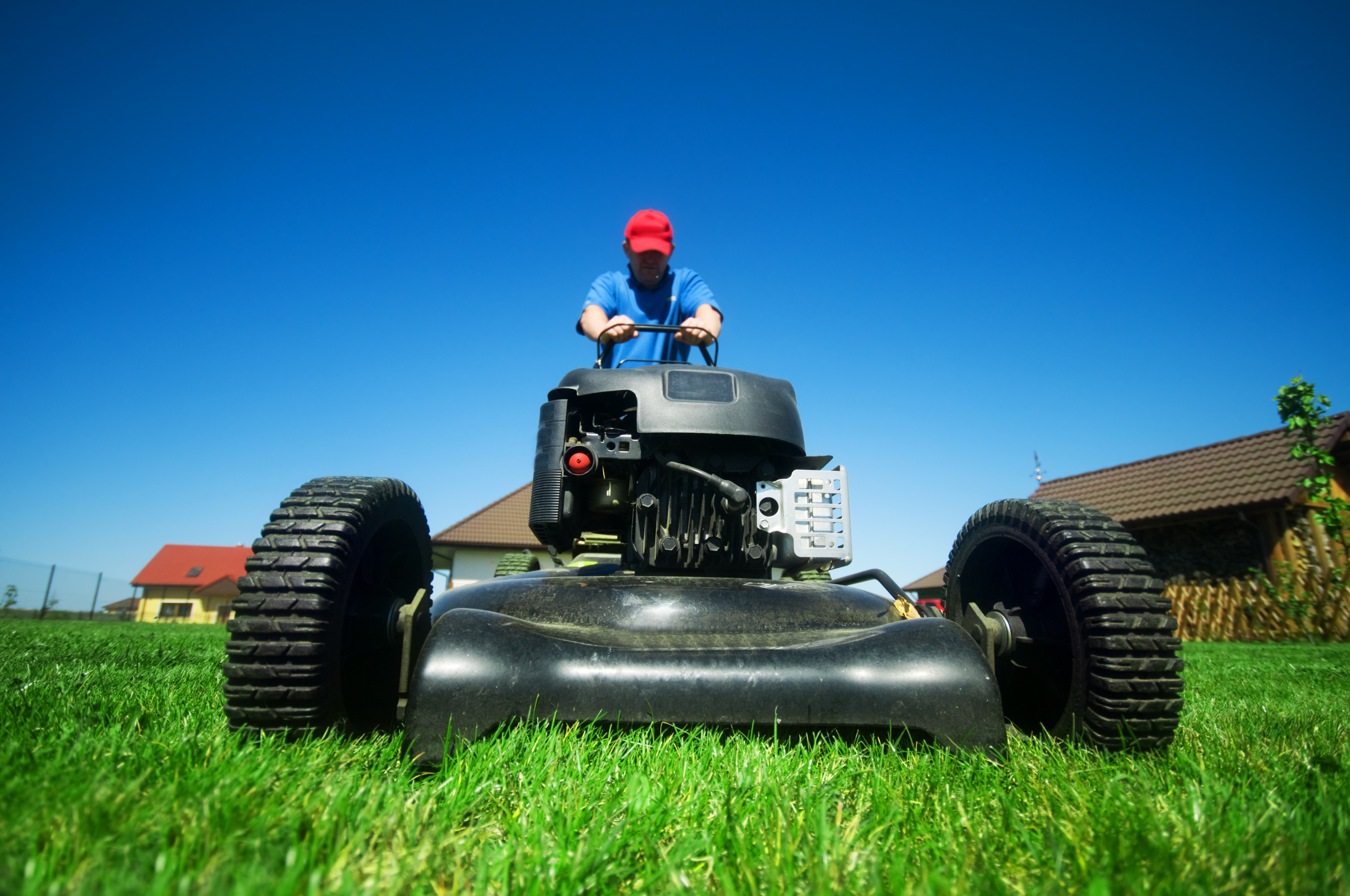 Only mow when the grass is dry + Cook Portable Warehouses