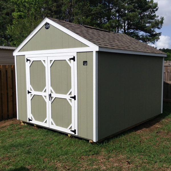 Tool-Shed-10X12 -- green and white trim