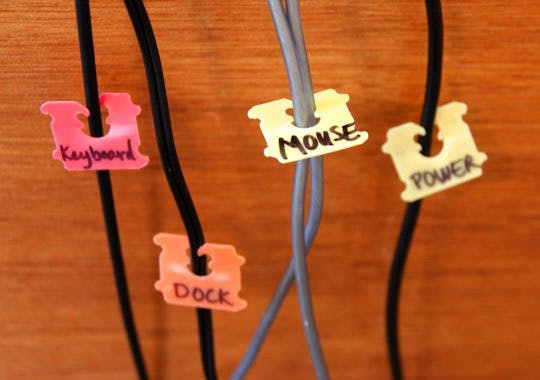 apartment therapy label cords