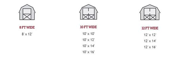 barn shed sizes