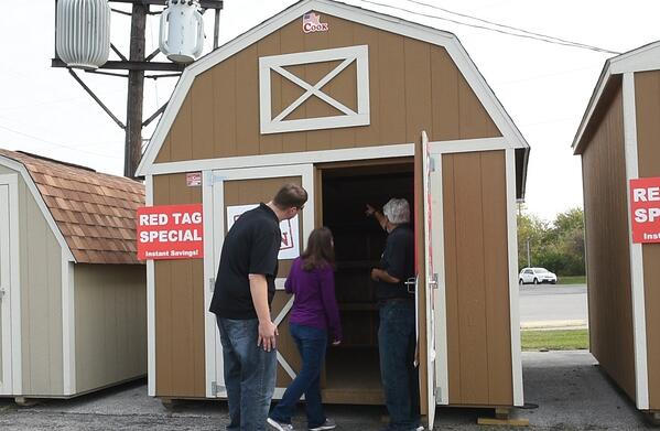 Asking questions and buying a shed