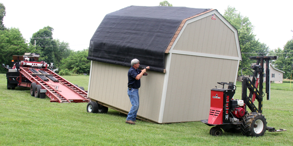 delivery of a Cook shed