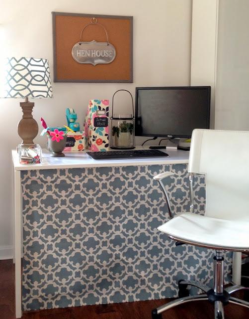 desk skirt from loveyourroom.blogspot.com