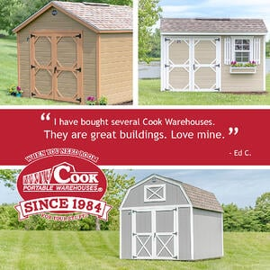 Ed's Testimonial about Cook sheds