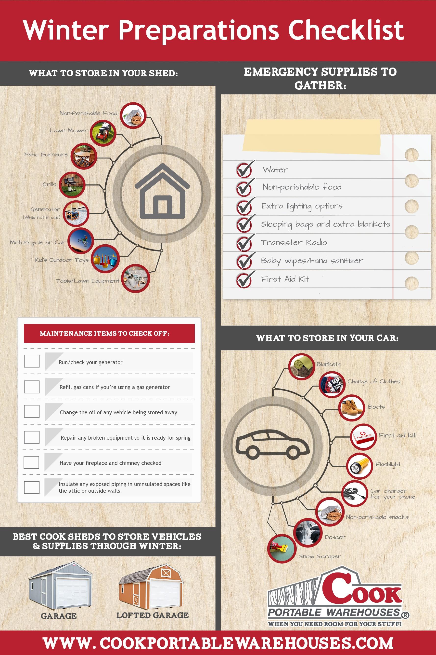 Emergency Preparedness Infographic + Cook Portable Warehouses