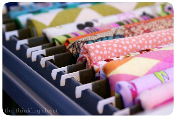 filing cabinet fabric from the thinking closet