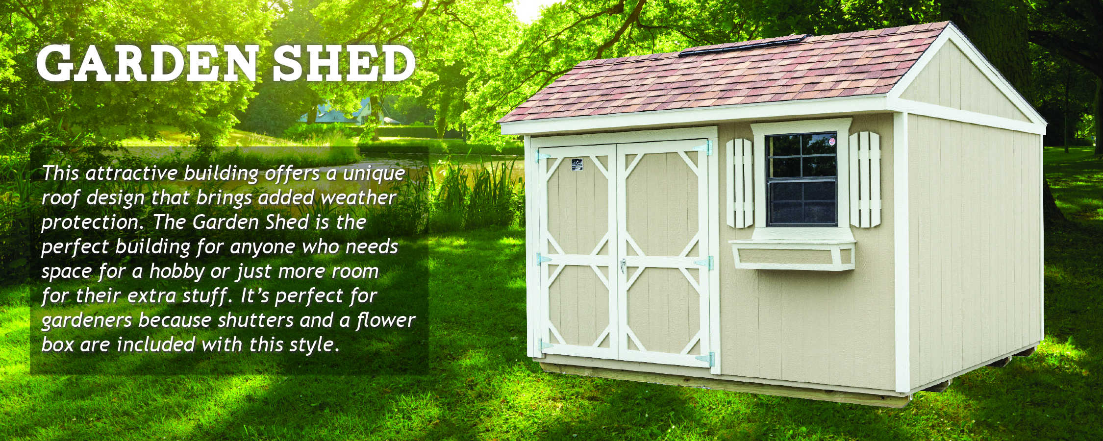 Create a she shed from a Cook Garden Shed