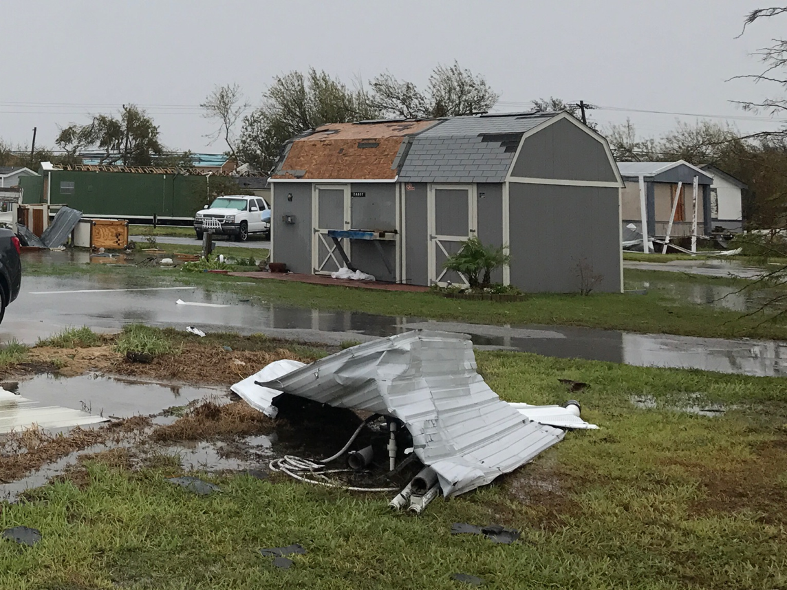 Sheds After Hurricane Harvey