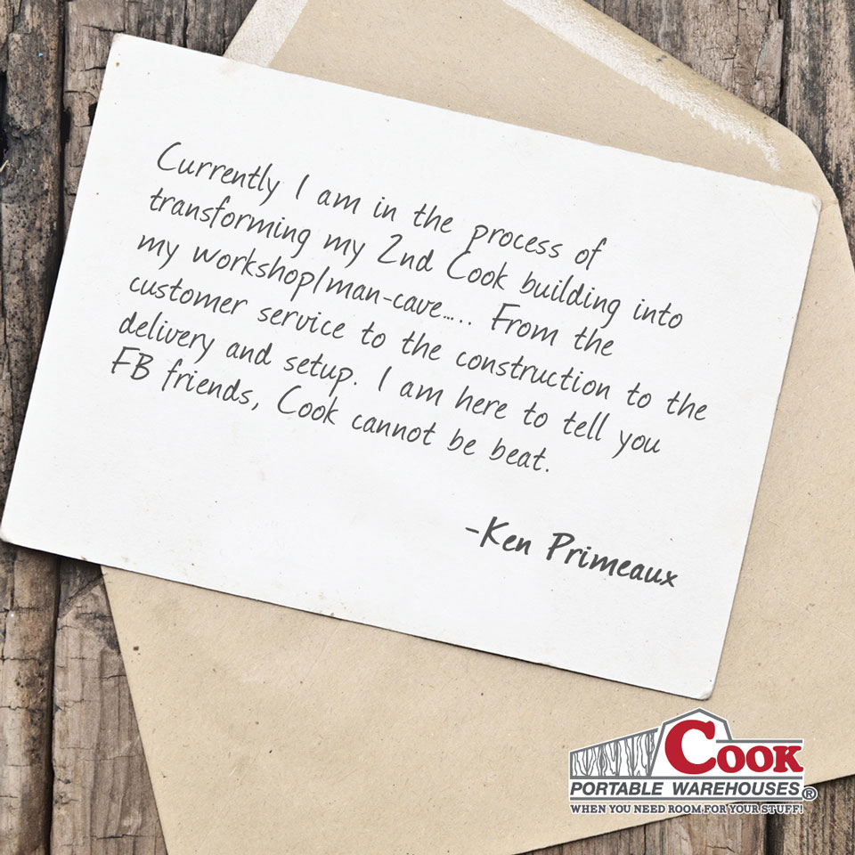 Cook Customer Testimonial + Cook Portable Warehouses