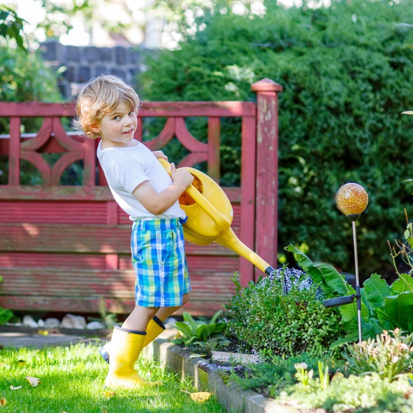 Outdoor Adventures: Kids Help With Garden + Cook Portable Warehouses