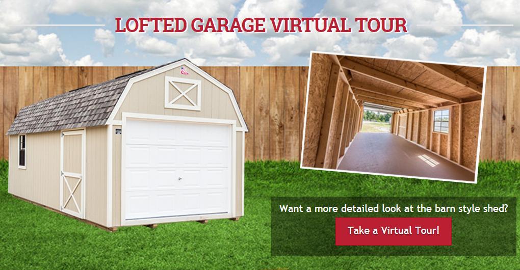 lofted garage virtual tour screen shot