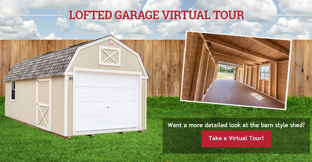 Take a Virtual Tour of a Lofted Garage + Cook Portable Warehouses