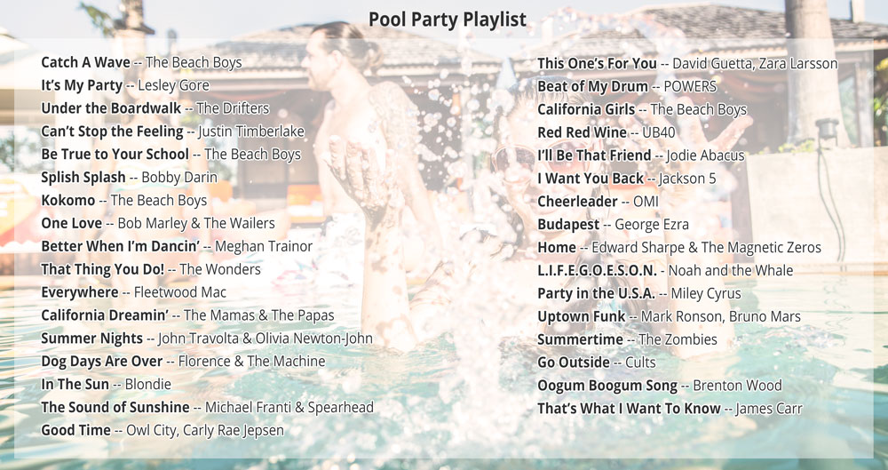 Pool Party Playlist + Cook Portable Warehouses