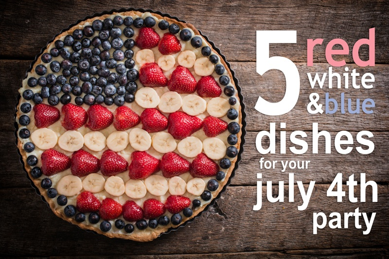 4th of July dishes + Cook Portable Warehouses