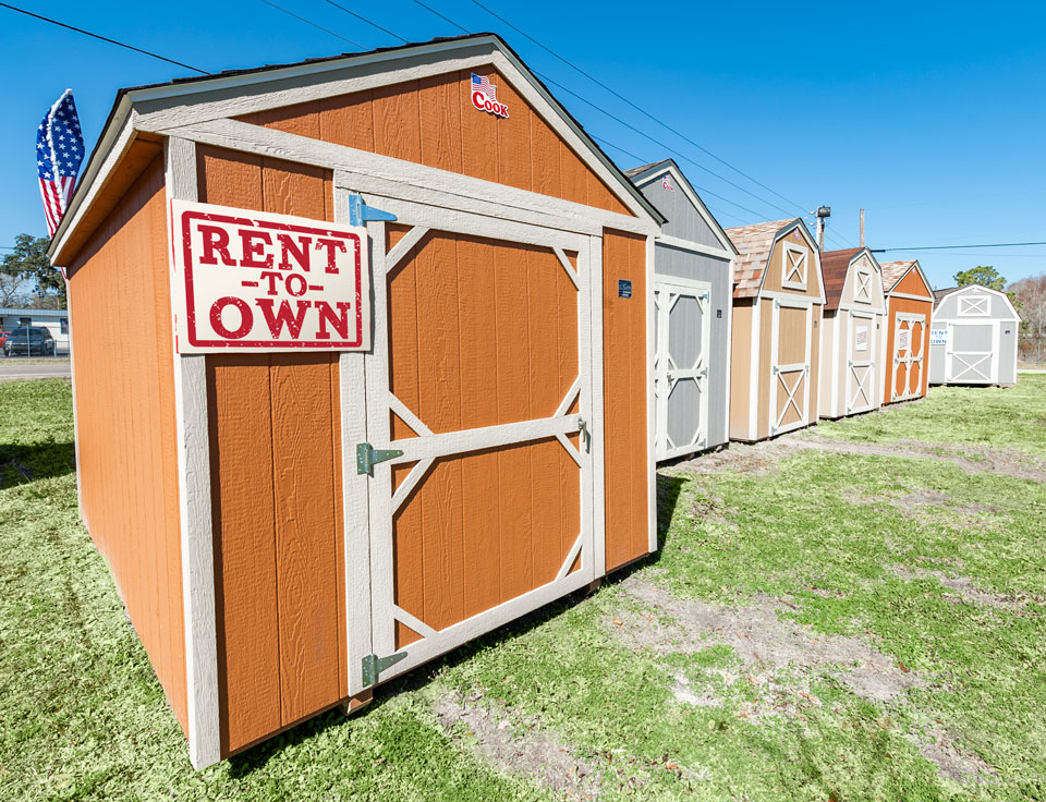 Rent to Own a Cook Shed