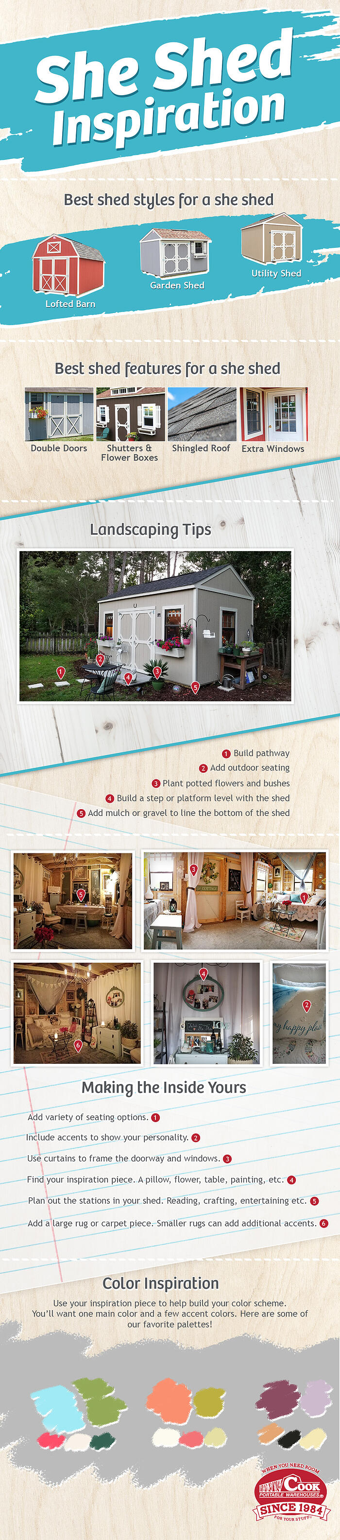Inspiration for Your She Shed Infographic